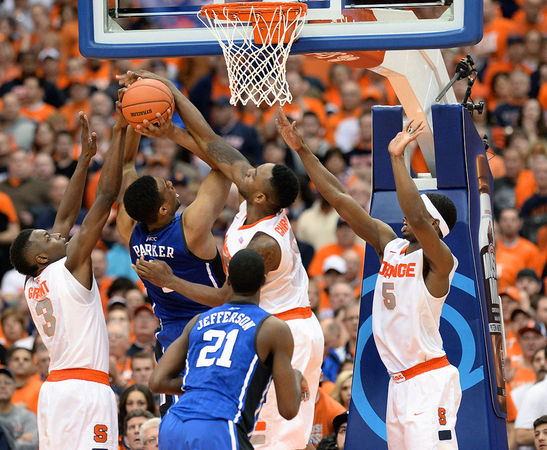Jerami Grant (#3) put up 24 points and 12 rebounds on a clear mismatch vs. Duke's front