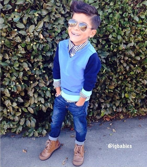 What regular SIX year old dresses like this?
