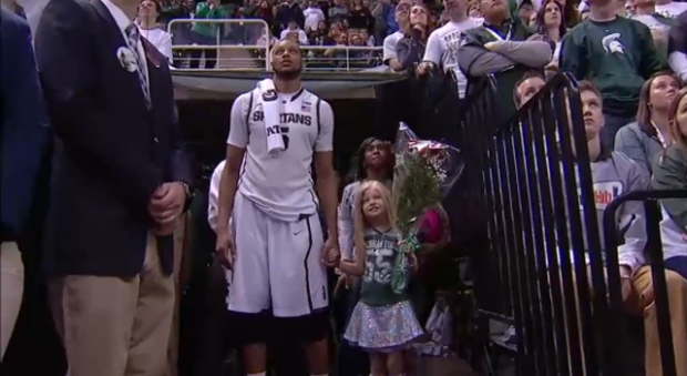 Adreian Payne formed a special bond with Lacey Holsworth as she fought her battle with cancer during his final state at Michigan State.