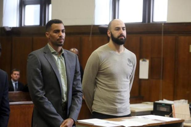 Sefolosha pictured with teammate, Pero Antic who was also arrested. Antic however had his charges dropped. Photo Credit: Jefferson Siegel